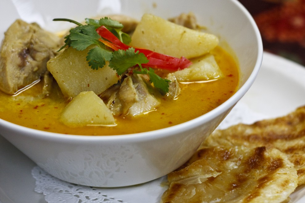 Roti And Curry Chicken...